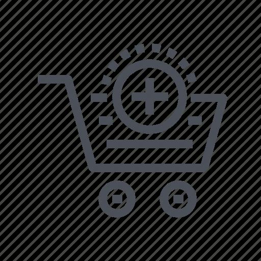 add, cart, commerce, ecommerce icon