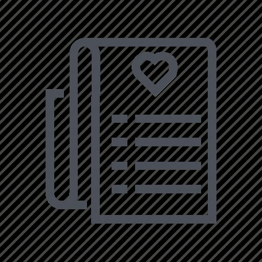 document, format, list, wish icon