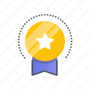 achievement, award, best, label, offer icon
