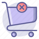 cart, commerce, delete, e, remove, shopping, trolley