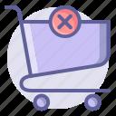 cart, commerce, delete, e, remove, shopping, trolley icon