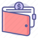 commerce, currency, e, money, shopping, wallet icon