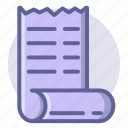 commerce, e, list, pay, receipt, shopping icon
