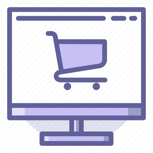 buy, cart, commerce, computer, e, shopping, trolley icon