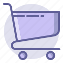 cart, commerce, e, empty, shopping, trolley