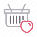 basket, cart, favorite, shopping, trolley
