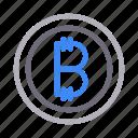 bitcoin, currency, money, saving, shopping icon