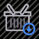 basket, buying, cart, shopping, trolley