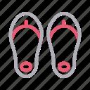 flipflop, footwear, sandal, shopping, sleeper icon