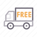 delivery, fast, free, lorry, truck