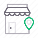 building, location, map, shop, store icon