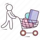 buying, ecommerce, purchasing, shopping, shopping cart icon