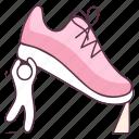 footgear, gym shoe, running shoe, sneaker, sport footwear, sports shoe icon