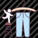 apparel, cloth, garment, jeans, pant, trouser icon