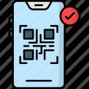 qr code scanner, barcode, qr, scanner, code, code scanner, qr code reader icon