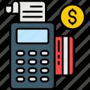 card, credit, machine, payment, pos machine icon