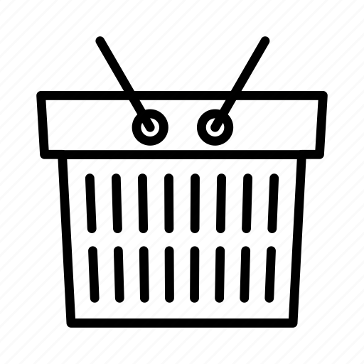 basket, buying, food, shopping, trolley icon
