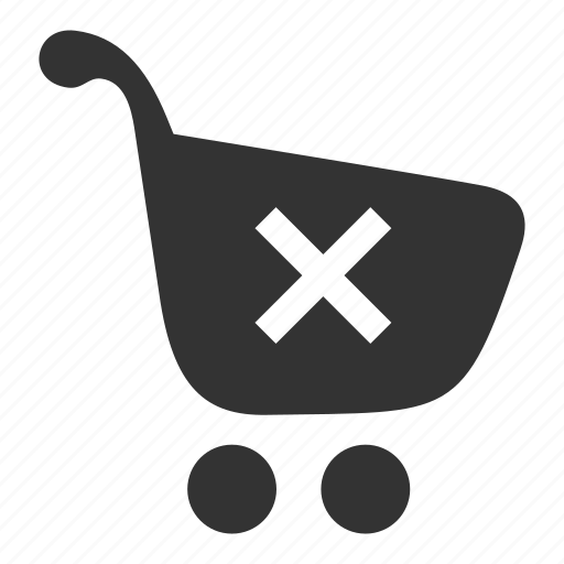 cart, delete, ecommerce, empty cart, remove products, shopping, shopping cart, store, webstore icon