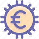 coin, currency, euro, finance, money icon