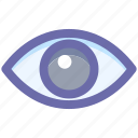 eye, overview, show, view, visibility, watch icon