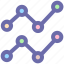 connect, diagram, graph, points, status icon