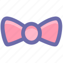 bow, casual, clothes, fashion, man, tie icon