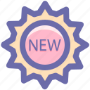label, new, new shopping, price, sign, sticker icon