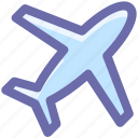 aircraft, airplane, flight, fly, plane, transport icon
