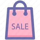 bag, carryall bag, ecommerce, sale sign, shopping bag icon