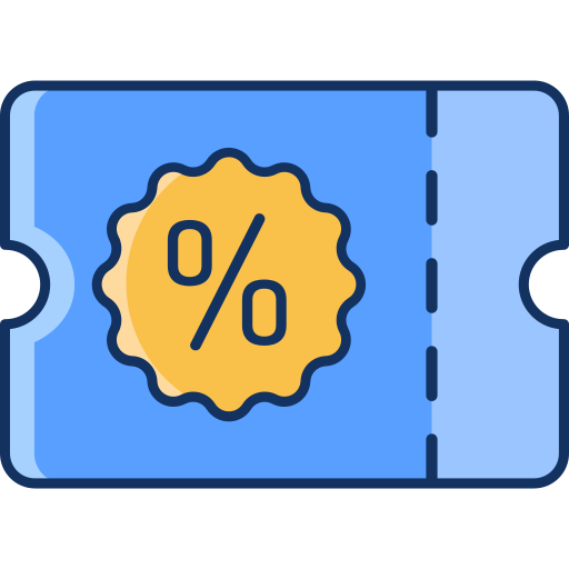 color, discount, gift card, lineal, sale, voucher icon