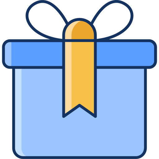 birthday, color, gift, gift card, lineal, sale icon