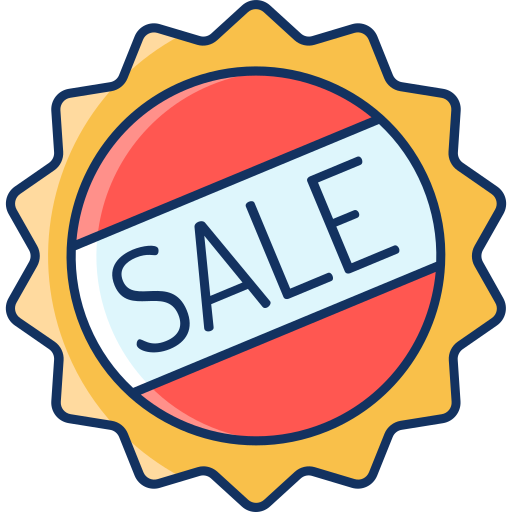 color, discount, lineal, marketplace, onlinestore, sale icon