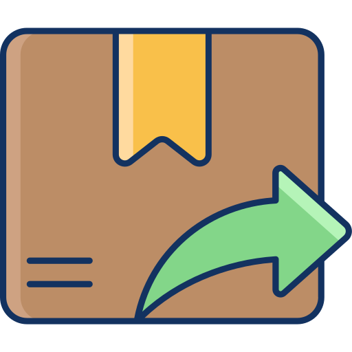 color, delivery, goods, lineal, sale, sending, shipping icon