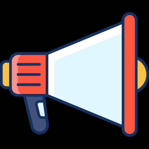 ads, advertising, color, lineal, megaphone, sale, speaker icon