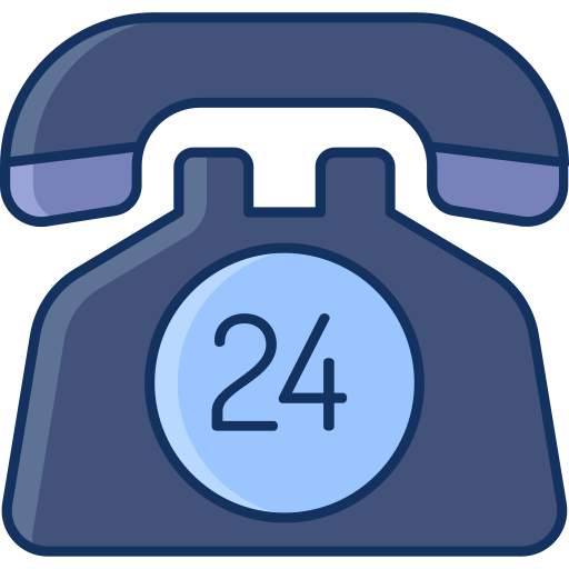 24hour, color, customer care, lineal, sale, support online icon