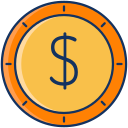 usd, color, dollar, sale, coin, currency, lineal icon