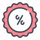 discount, sale, percentage, label, badge, shopping