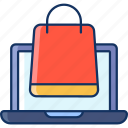 color, laptop, marketplace, online shop, online store, sale, shopping icon