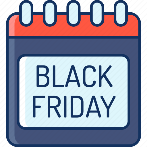 black friday, calendar, color, lineal, marketplace, onlineshop, sale icon