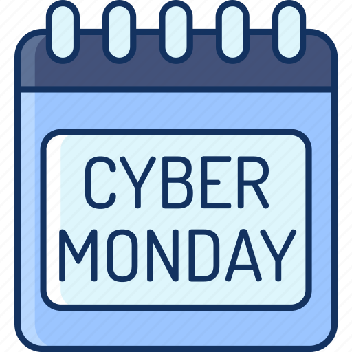 calendar, color, cyber monday, discount, holiday, lineal, sale icon