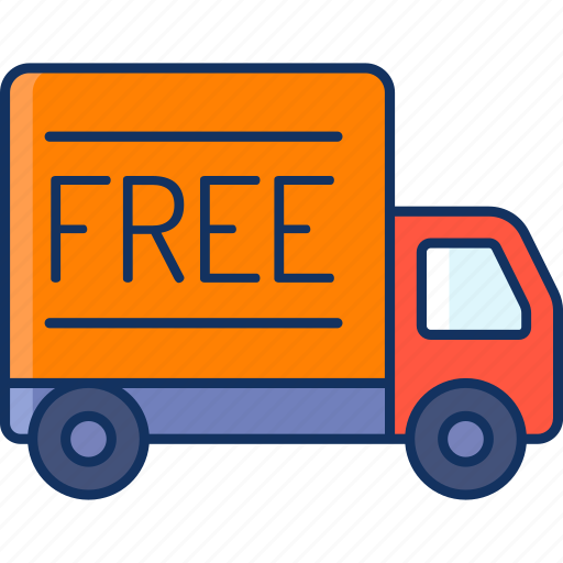 color, delivery, free, lineal, sale, shipping, truck icon