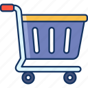 color, add to cart, lineal, sale, trolley icon