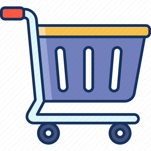add to cart, color, lineal, sale, trolley icon