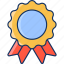 good, color, medal, sale, satisfaction, lineal, badge icon