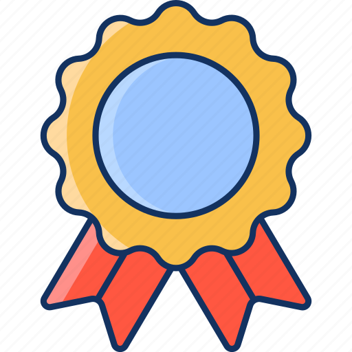 badge, color, good, lineal, medal, sale, satisfaction icon