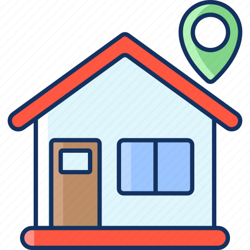 color, home, house, lineal, location, sale, shipping icon