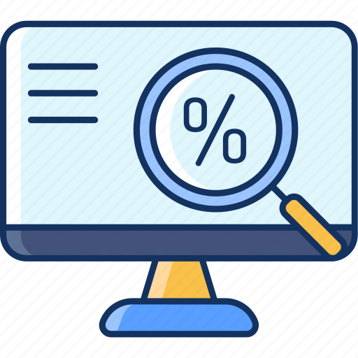 color, computer, discount, lineal, monitor, onlineshop, sale icon