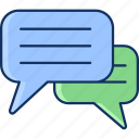chatting, color, sale, chat, line, lineal, whatsapp icon