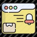 shopping, ecommerce, notification, reminder, web, alert, notice