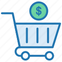 add product, budget, cost, dollar, ecommerce, shopping, shopping cart icon